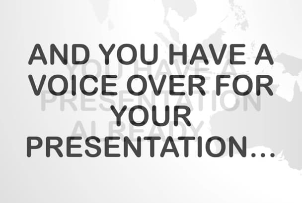 sync professional presentation design with your voice over