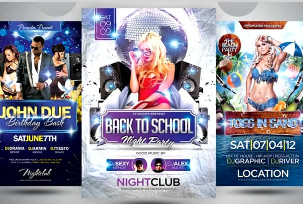 design a party flyer for your business