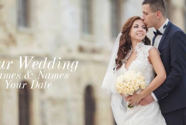 create ELEGANT Photo Video Wedding Slideshow