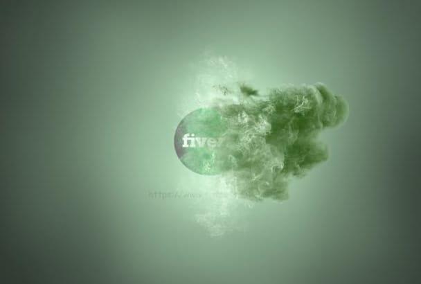 do amazing fireball smoke logo video intro