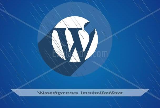 install WORDPRESS , Secure it and Add plugins