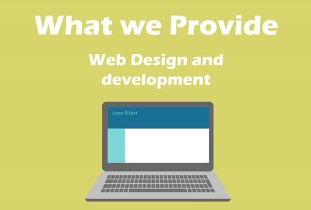 design and develop Modern Website
