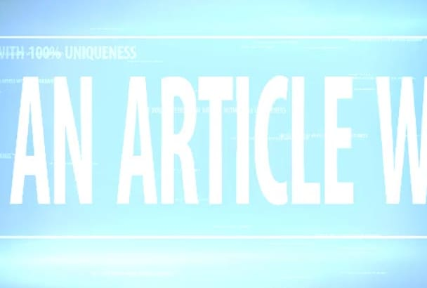 do article writing for your BUSINESS