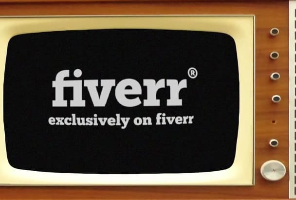 create a cool TELEVISION effect for your logo