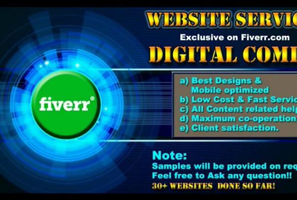 do mobile friendly and seo optimised wordpress website