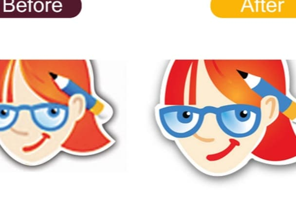 trace, convert, logo, redraw any image to vector