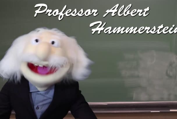 record your puppet promo videos with the Professor