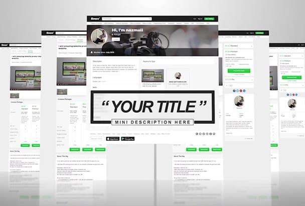 do website promo video for your website