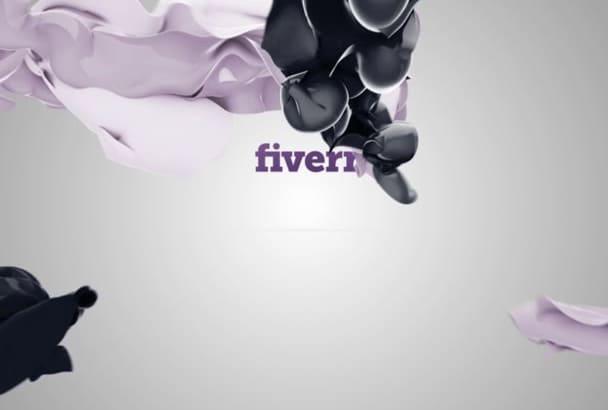 make FANTASTIC flying elegant 3d video logo intro
