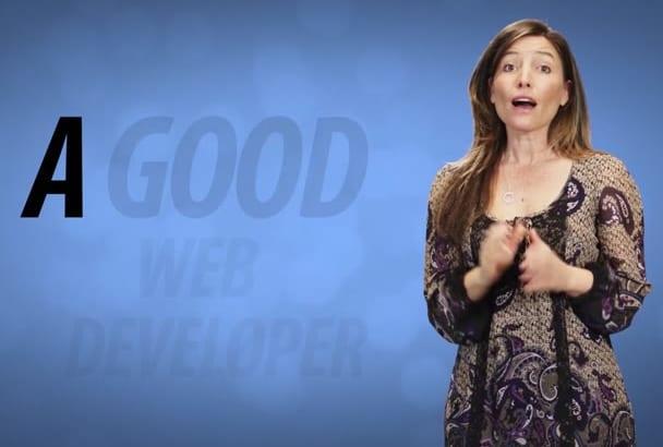 create Web Developer commercial in 12hrs