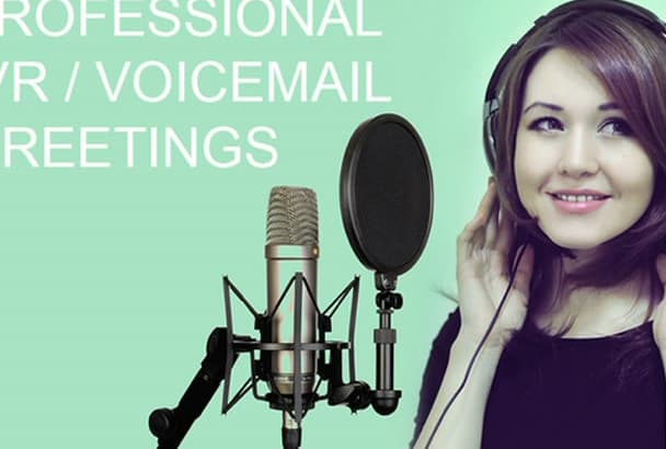 record a professional IVR, voicemail in English with Russian accent