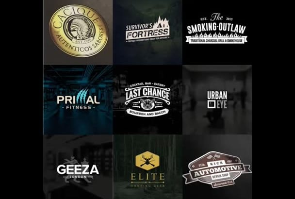 design a Awesome Vintage Logo For You