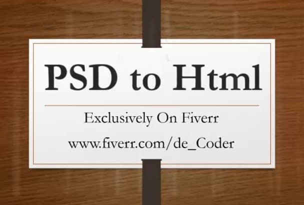 convert PSD to responsive site professionally in 24 hours