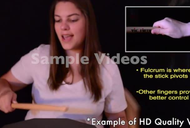 make a custom drum lesson video