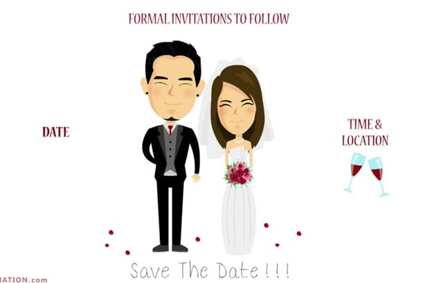 create Save The Date Animation for your wedding