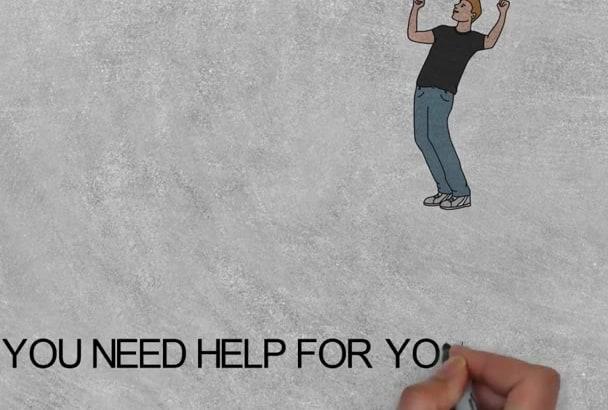 do amazing white board video scribe,Animation full hd