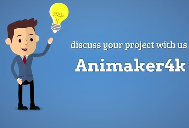 create professional flat cartoon animated video commercial