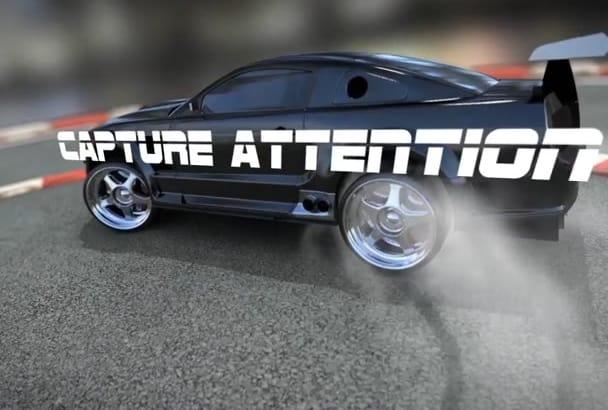 make Sport Car REVEAL your Logo Video Intro
