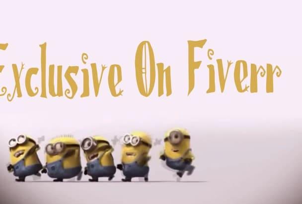 make Dancing Minion Funny Video Intro