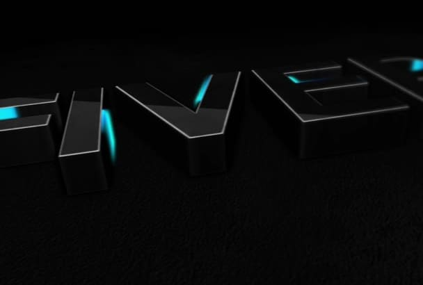 create 3d animated logo for you intro in just 24 hours