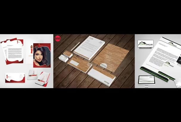 design a Creative stationery design for you