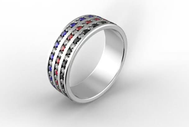 production render of your jewelry design