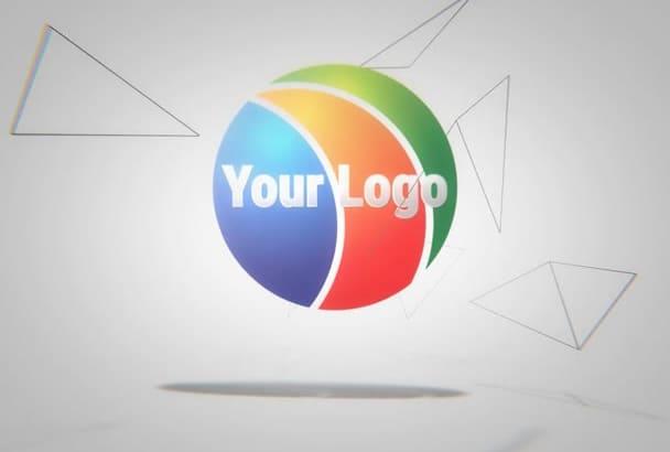 create a logo intro video