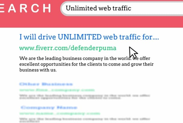 drive UNLIMITED Real traffic to your website for one month