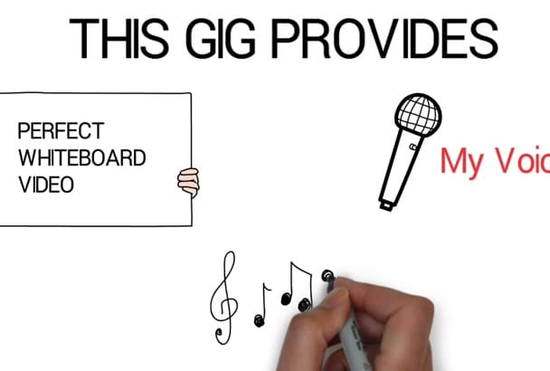 make a stunning whiteboard video with voice and music