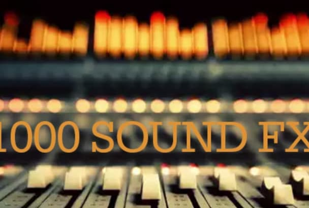give you a thousand sound effects