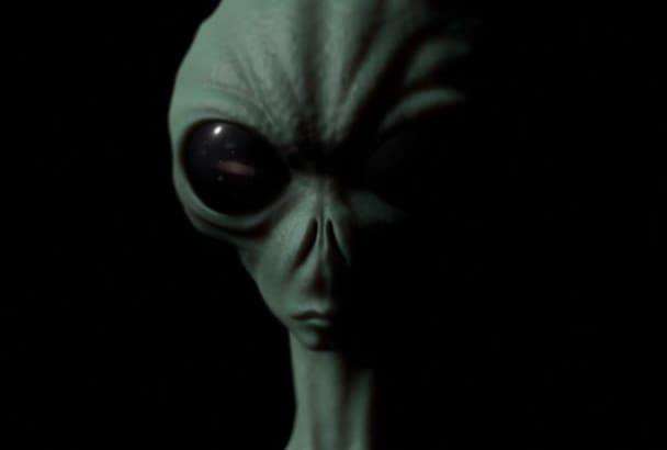 reveal your logo inside an alien eye