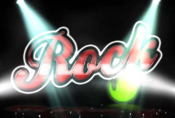 create an awesome rock vintage video intro