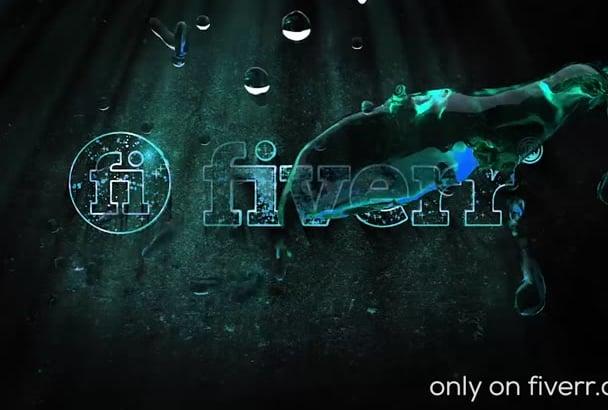 do intro with splash water logo