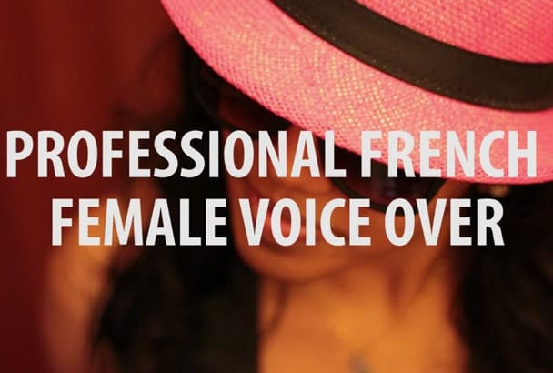 record a 150 words FRENCH voice over