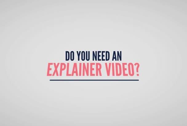 make a killer Color Explainer or WhiteBoard video in 48hr