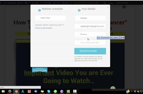 customize webinar jam or ever webinar CTA button for you