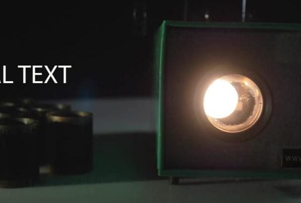 make you retro video projector logo reveal