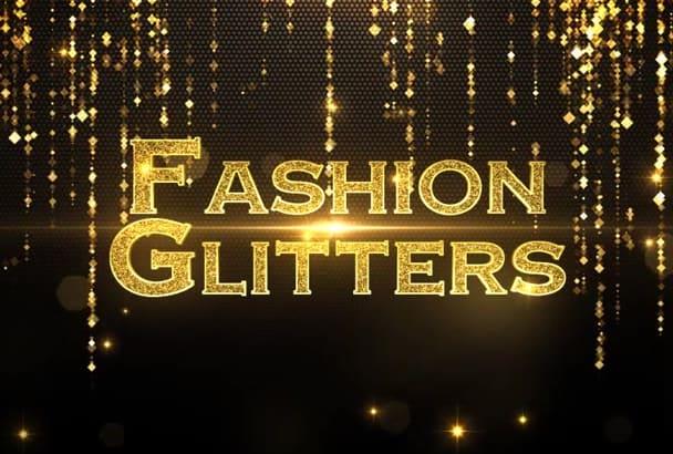 create a Fashion Gladiators intro promo video