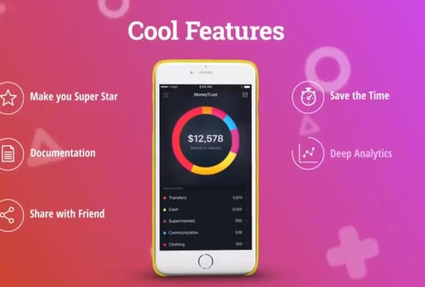 create app marketing video animation