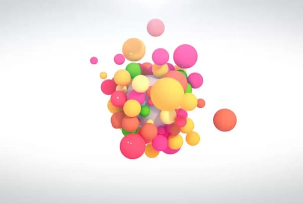 create colorful balls intro video 3D in just 24hrs