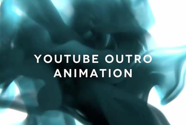 do a Youtube outro animation