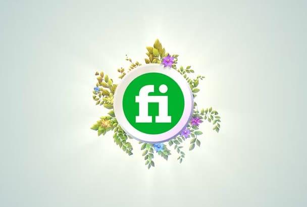 create 6 NATURE Logo Animation Video Intros