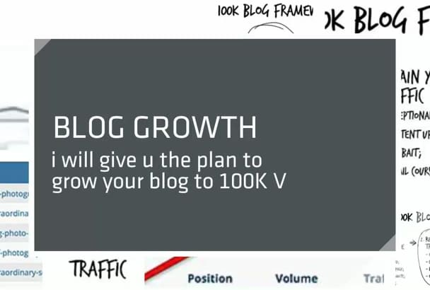 show you how to Grow Yr Blog To 100K Visitors Per Month