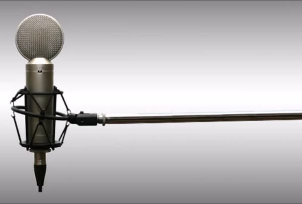 record professional Slovenian or English male voice over