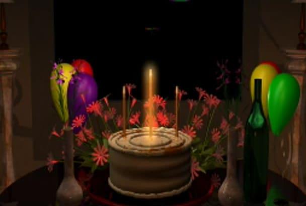 make a Happy Birthday video Presentation
