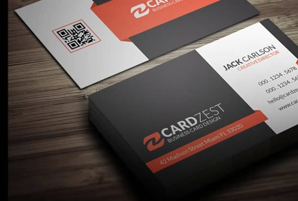 create Professional Business cards and Unlimited Revisions