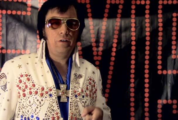 record voicemail greeting as Elvis