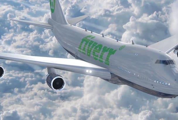 create Airplane Logo Intro Advertisement