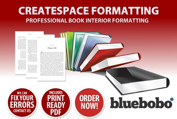 do professional formatting of your book for Createspace