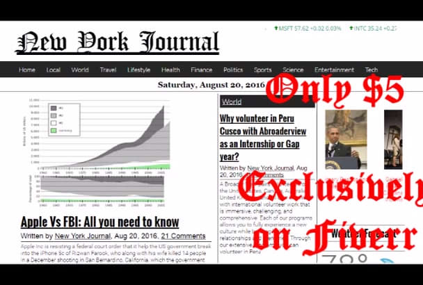 publish article on New York News blog